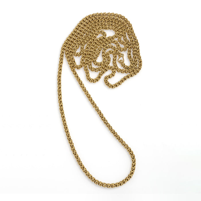 Macklowe Gallery Gold Fancy Link Long Chain Necklace