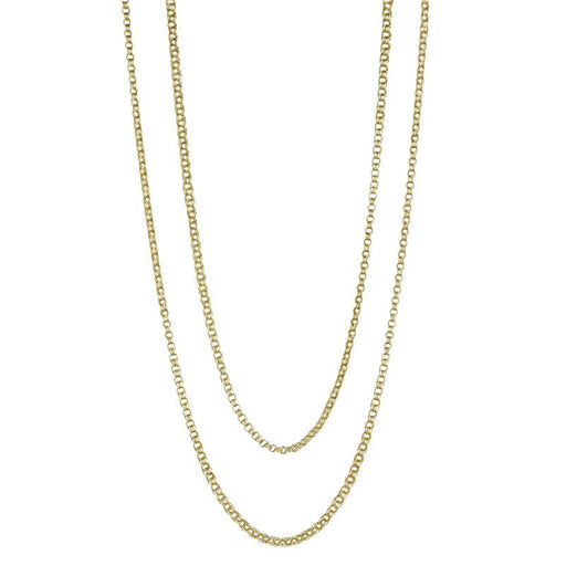 Macklowe Gallery Gold Triple Trace Link Long Chain Necklace