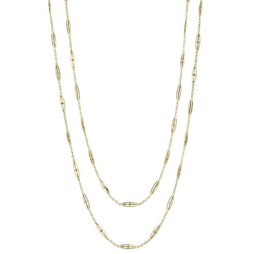 Macklowe Gallery Gold Circular Trace Link Long Chain Necklace