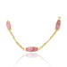 Macklowe Gallery Rhodochrosite and Gold Long Chain Necklace