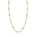 Macklowe Gallery Coral and Gold Long Chain Necklace