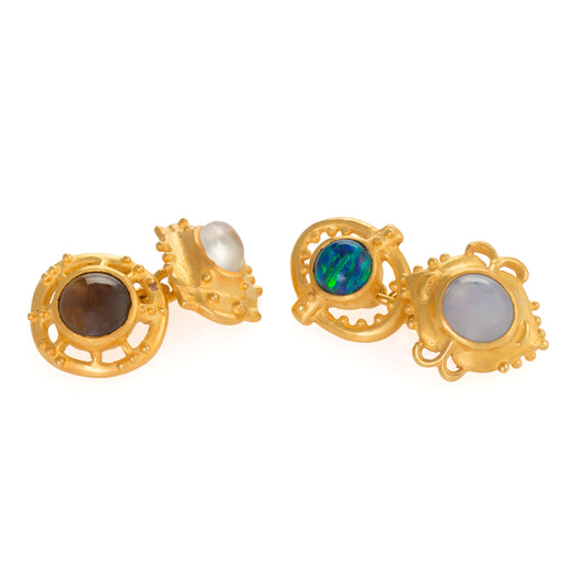 Macklowe Gallery Marcus & Co. Gemstone Cuff Links