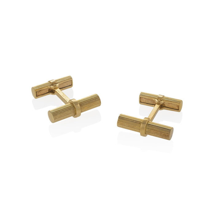 Macklowe Gallery Van Cleef & Arpels Gold Cylinder Cuff Links
