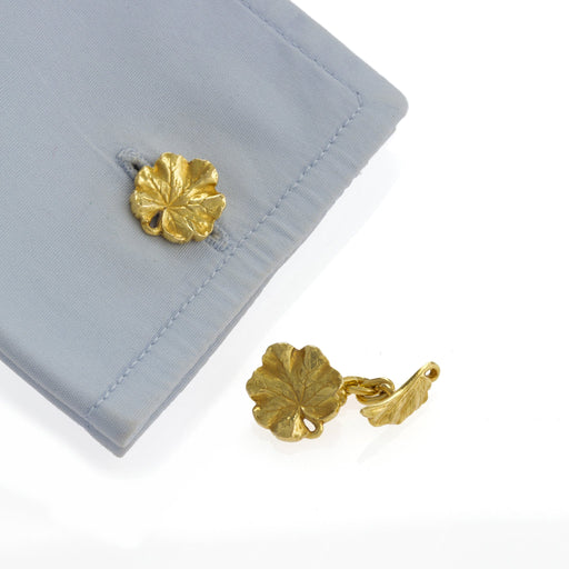 Macklowe Gallery Gold Leaf Cuff Links