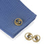 Macklowe Gallery Heraldic Shield Gold and Enamel Cuff Links