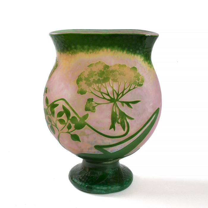 "Macklowe Gallery Daum Nancy ""Ombelle"" Cameo Glass Vase"