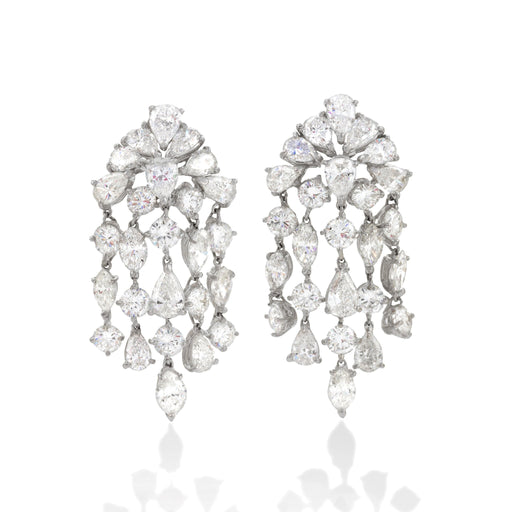 "Macklowe Gallery David Webb Diamond ""Waterfall"" Earrings"