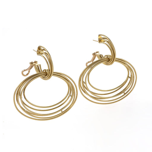 Macklowe Gallery Gold Hoop Kinetic Earrings