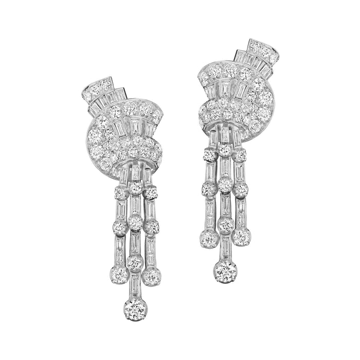 Macklowe Gallery Faraone Diamond Tassel Pendant Earrings