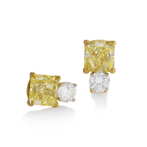 Macklowe Gallery Fancy Yellow Diamond Earrings
