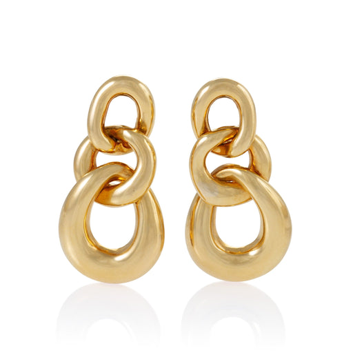 Macklowe Gallery David Webb Gold Triple Curb Link Earrings