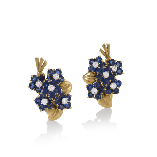 Macklowe Gallery Van Cleef & Arpels Sapphire and Diamond Bouquet Earrings