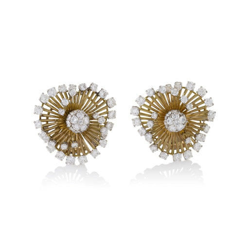 "Macklowe Gallery Van Cleef & Arpels ""Angel Hair"" Gold and Diamond Earrings"