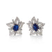 Macklowe Gallery Sapphire and Diamond Flower Earrings