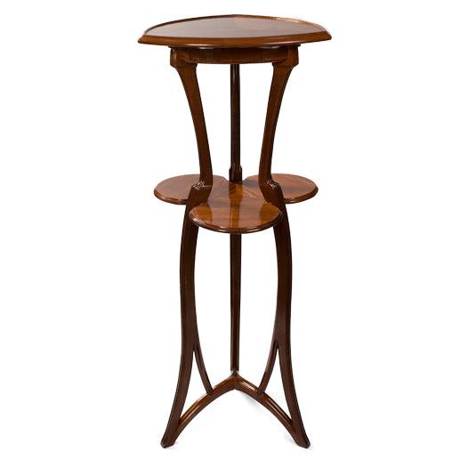 Macklowe Gallery Louis Majorelle Two-Tiered Fruitwood Pedestal