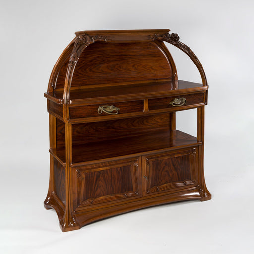 "Macklowe Gallery Louis Majorelle Walnut Wood Server ""Cephalaria"" Cabinet"