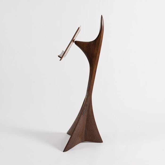 Macklowe Gallery Michael Coffey Carved Wood Music Stand