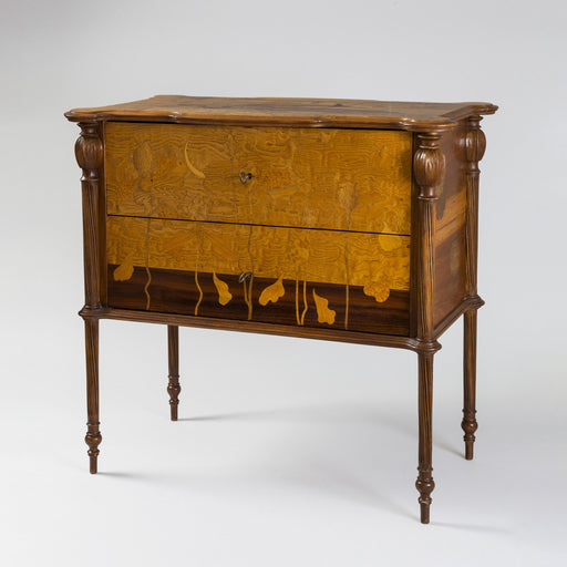 "Macklowe Gallery Émile Gallé ""Pavot"" Wooden Chest of Drawers"
