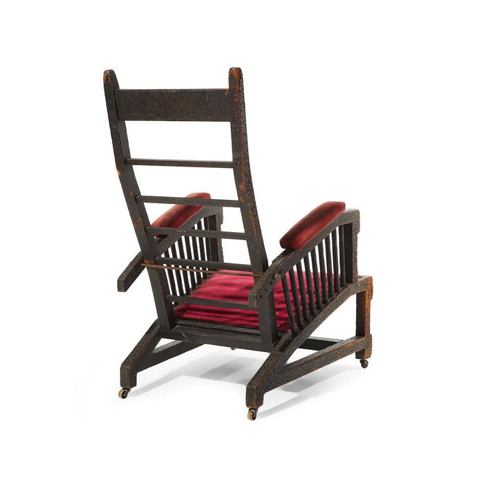 Macklowe Gallery Tiffany Studios New York Ebonized Wood Reclining Armchair