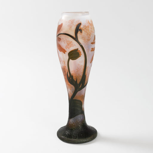 Macklowe Gallery Daum Nancy Floral Cameo Glass Vase