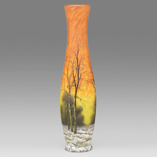 "Macklowe Gallery Daum Nancy ""Winter Landscape"" Glass Vase"