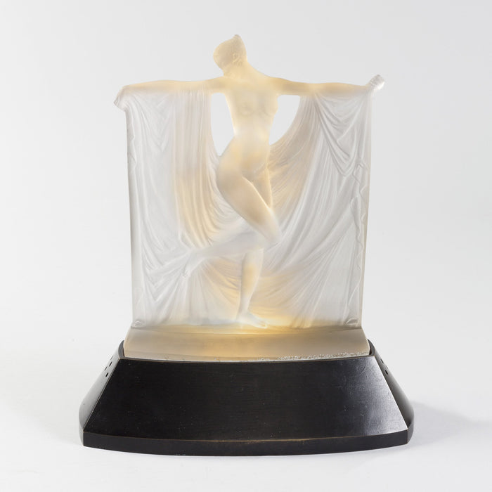 "Macklowe Gallery René Lalique ""Suzanne Au Bain"" Illuminated Glass Sculpture"