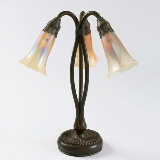 "Macklowe Gallery Tiffany Studios New York ""Three Light Lily"" Table Lamp"