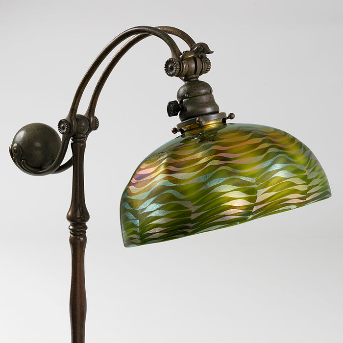 "Tiffany Studios New York ""Damascene Counter-Balance"" Floor Lamp"