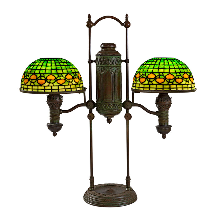 "Tiffany Studios New York ""Double Student Vine Border"" Table Lamp"
