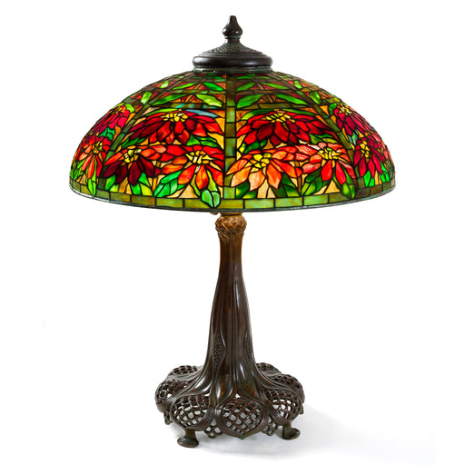 "Macklowe Gallery Tiffany Studios ""Double Poinsettia"" Table Lamp"