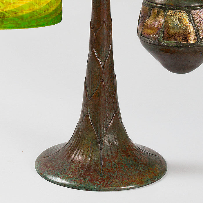 "Tiffany Studios New York ""Counterbalance Damascene"" Desk Lamp"