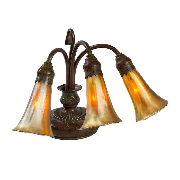 "Tiffany Studios New York ""Three Light Lily"" Desk Lamp"