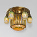 "Macklowe Gallery Tiffany Studios New York ""Prism"" Favrile Ceiling Light Fixture"