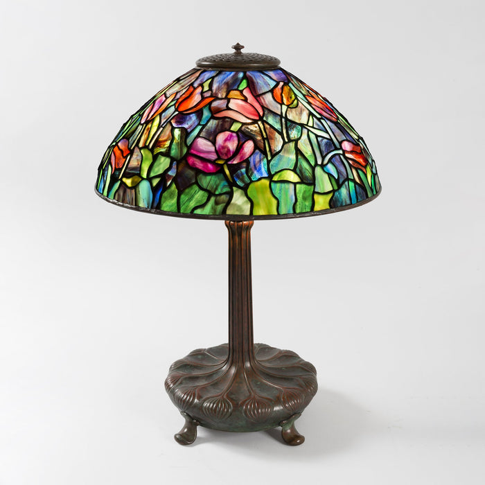 "Macklowe Gallery Tiffany Studios New York ""Windswept Tulip"" Table Lamp"