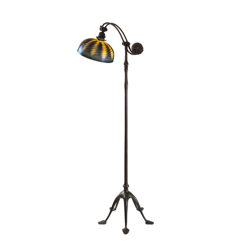 "Macklowe Gallery Tiffany Studios New York ""Damascene Counter-Balance"" Floor Lamp"