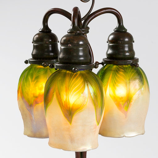 "Macklowe Gallery Tiffany Studios New York ""Newell Post"" Favrile Glass Desk Lamp"