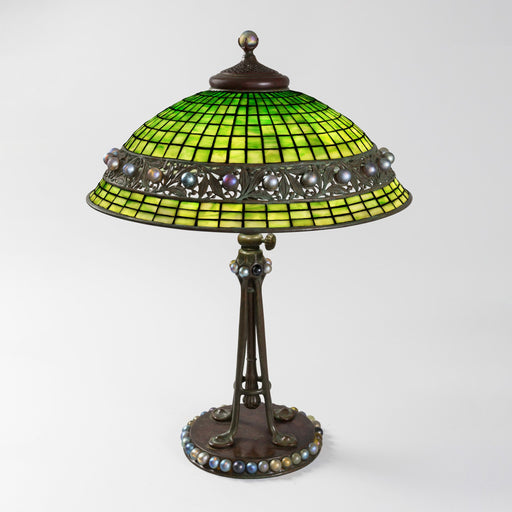 "Macklowe Gallery Tiffany Studios New York ""Jeweled Geometric"" Table Lamp"