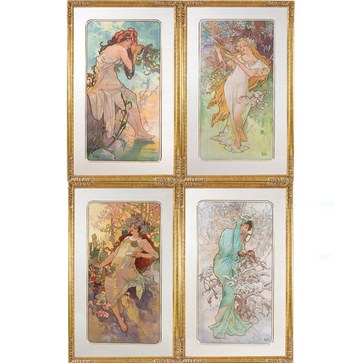 "Macklowe Gallery Alphonse Mucha Series of ""Les Saisons"" Lithographs"