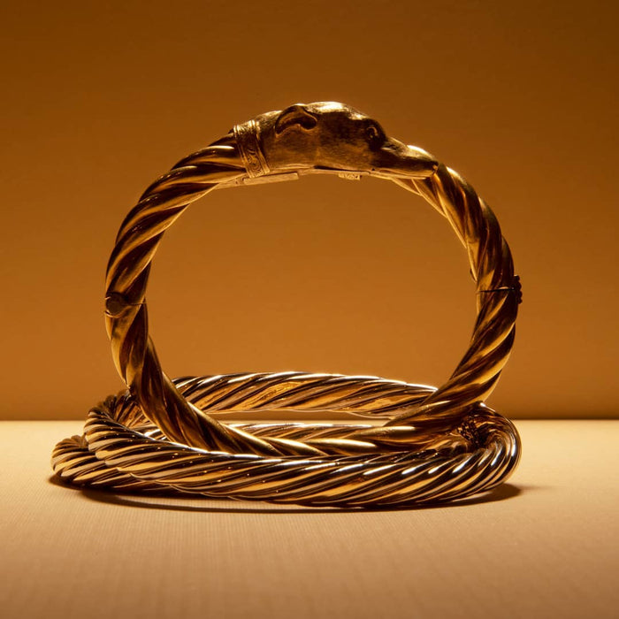 Van Cleef & Arpels Rope Twist Bi-color Gold Bangle