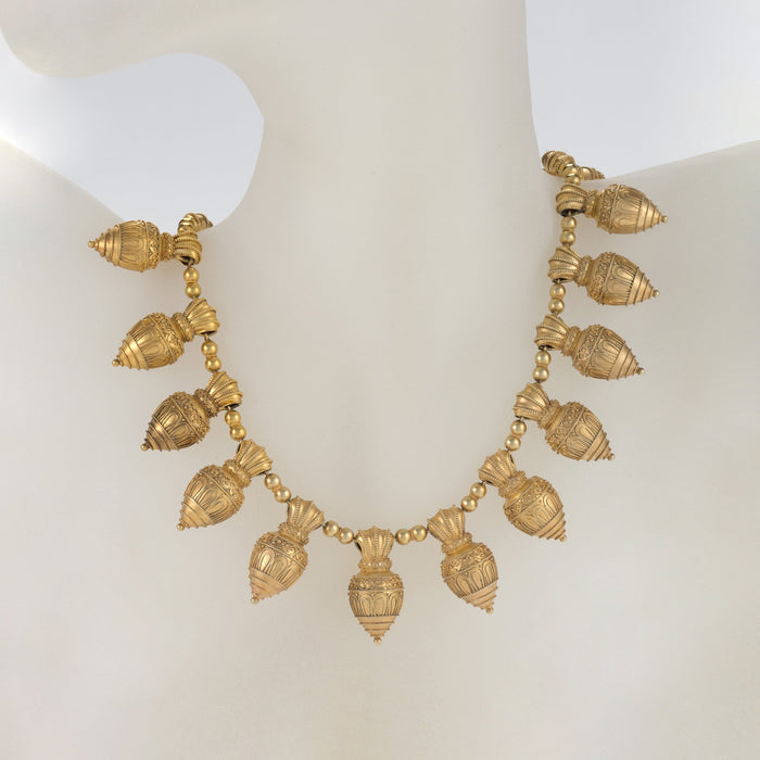 Macklowe Gallery Archaeological Revival Gold Necklace