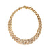 Macklowe Gallery Van Cleef & Arpels Gold and Diamond Twisted Curb Link Necklace