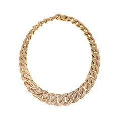 Van Cleef & Arpels Gold and Diamond Twisted Curb Link Necklace