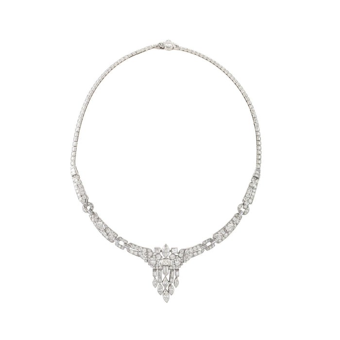 Macklowe Gallery Multi-Cut Diamond Tassel Collar Necklace