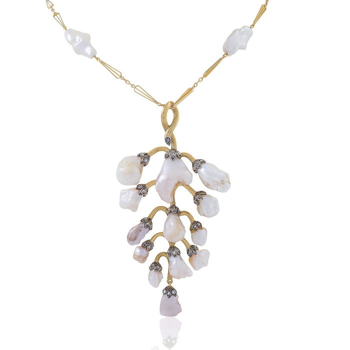Macklowe Gallery Freshwater Pearl Wisteria Pendant Necklace