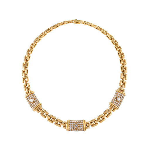 "Macklowe Gallery Cartier Gold and Diamond Panthère Link ""Trinidad"" Necklace"