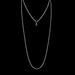 Macklowe Gallery Seed Pearl and Diamond Long Chain Necklace