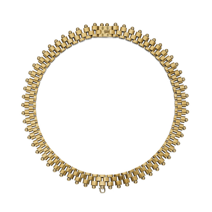 Macklowe Gallery Geometric Gold Link Necklace