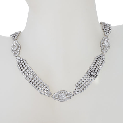 Macklowe Gallery Convertible Diamond Collar Necklace