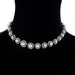 Macklowe Gallery Natural Saltwater Button Pearl and Diamond Necklace