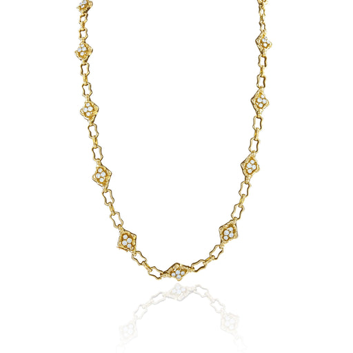 Macklowe Gallery Soubrenie et Bois Gold and Diamond Long Chain Necklace